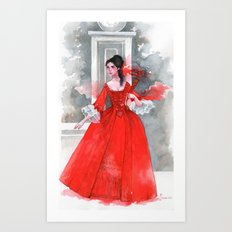 The red dress Art Print