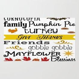 Thanksgiving Fun Rug