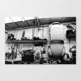 Car on the wall Canvas Print