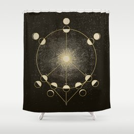 Vintage Astronomy Map Shower Curtain