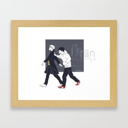 After me, I'll follow you Framed Art Print