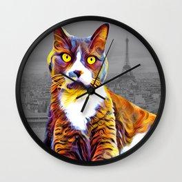 Saddy-Cat Wall Clock