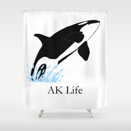 AK Life Orca Shower Curtain