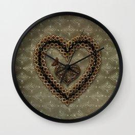 Wonderful celtic knot heart Wall Clock