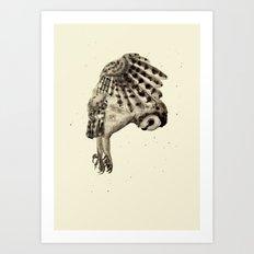 Flying Owl Art Print