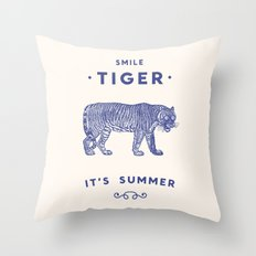 Smile Tiger, it's Summer Throw Pillow