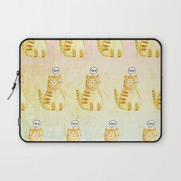 Watercolor Orange Cat Laptop Sleeve