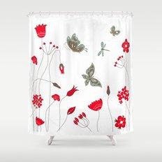 Tatemae Japanese White Shower Curtain