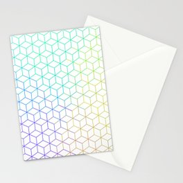 Rainbow Hexagon Pattern Stationery Cards