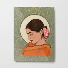 Sad Girl Metal Print
