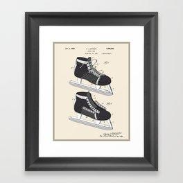Hockey Skate Patent - Colour Framed Art Print