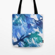 Morning Blossoms 2 - Blue Variation Tote Bag