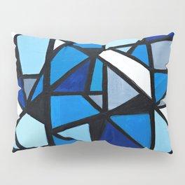 Blue Geometric Pillow Sham