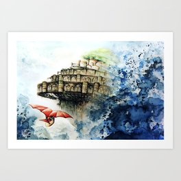 """The castle in the sky"" Art Print"