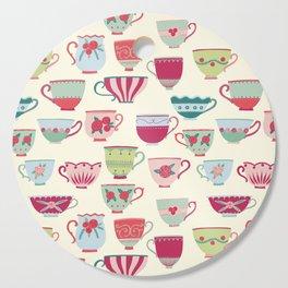 China Teacups Cutting Board