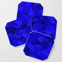 Rich Cobalt Blue Abstract Coaster