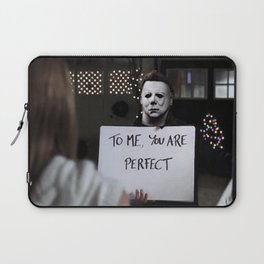 Michael Myers in Love Actually Laptop Sleeve
