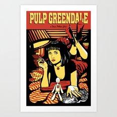 Pulp Greendale Art Print