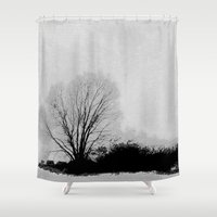 lonely Shower Curtains featuring LONELY by ..........
