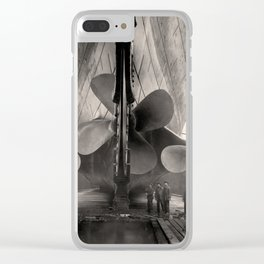 Historic Ocean Liner Before Hitting an Iceberg in 1912 Clear iPhone Case