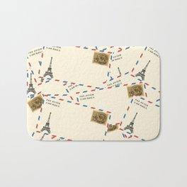 Paris Envelopes Bath Mat