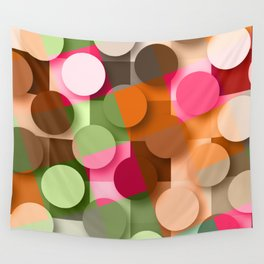 dots & squares Wall Tapestry