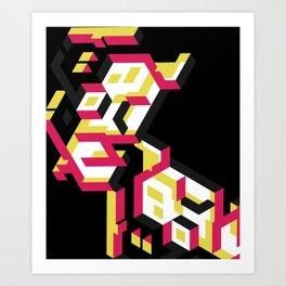 Le Parthénon the remix Art Print