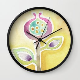Flower and Seeds Wall Clock