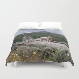 Charlotte in Muldoon Canyon Duvet Cover