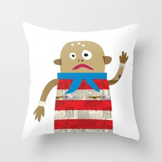 The Shipmate often seen on a Pirate ship Throw Pillow