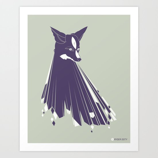 TRUE FOXES Art Print
