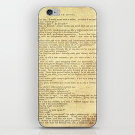 Jane Eyre, Mr. Rochester First Marriage Proposal by Charlotte Bronte iPhone Skin