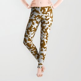 Small Spots - White and Golden Brown Leggings