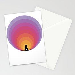 Bunny Rabbit Sunrise Stationery Cards