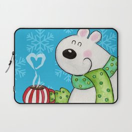 Hot Cocoa Polar Bear Laptop Sleeve