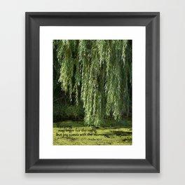Weeping Willow Framed Art Print