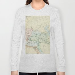 Old Map of The Roman Empire Long Sleeve T-shirt
