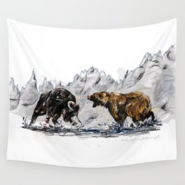 Bull and Bear Wall Tapestry