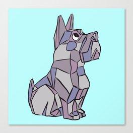 Cubist Pup Canvas Print