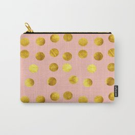 Gold polka dots pink Carry-All Pouch