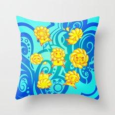 Flower Kids Throw Pillow