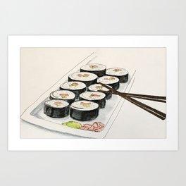 California Sushi Roll Art Print