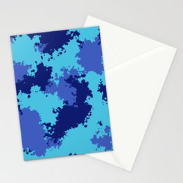 Camouflage ocean  Stationery Cards