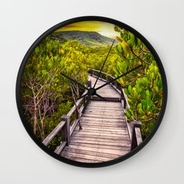 Mangrove Forest Sunset Wall Clock