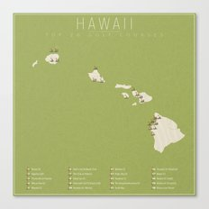 Hawaii Golf Courses Canvas Print