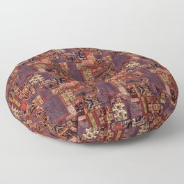 vintage mixed media collage Floor Pillow