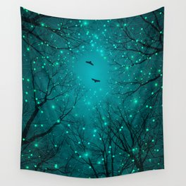 One by One, the Infinite Stars Blossomed Wall Tapestry