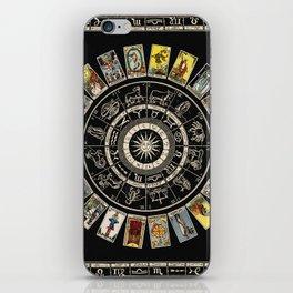 The Major Arcana & The Wheel of the Zodiac iPhone Skin