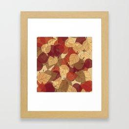 Fallen Leaves Large Framed Art Print