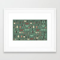 insects Framed Art Prints featuring Insects by Kiana